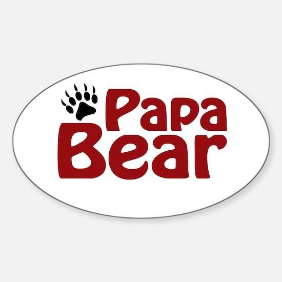 Papa Bear Claw Oval Decal