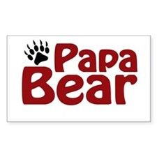 Papa Bear Claw Rectangle Decal