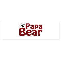 Papa Bear Claw Bumper Sticker (50 pk)