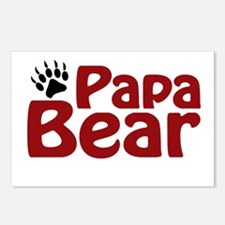 Papa Bear Claw Postcards (Package of 8)