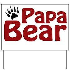Papa Bear Claw Yard Sign