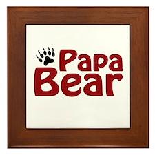 Papa Bear Claw Framed Tile