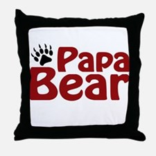 Papa Bear Claw Throw Pillow