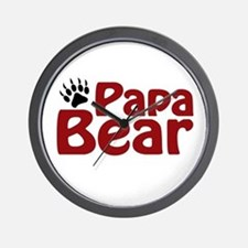 Papa Bear Claw Wall Clock
