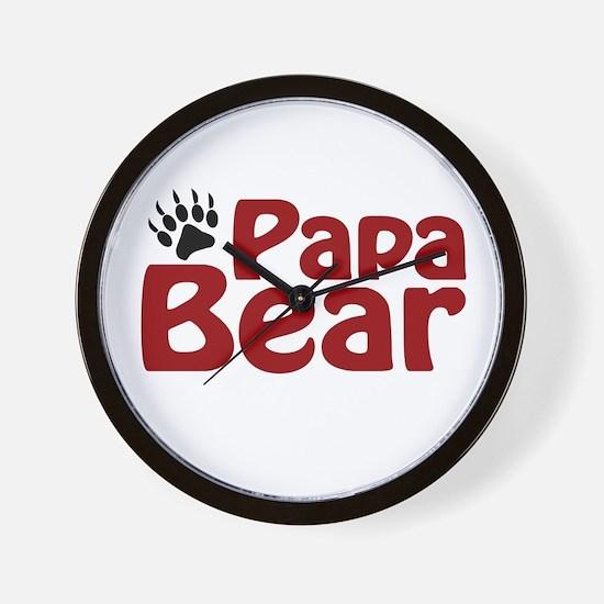 Papa Bear Claw Wall Clock