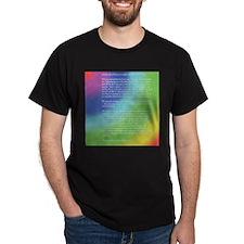 Rainbow Bridge Black T-Shirt