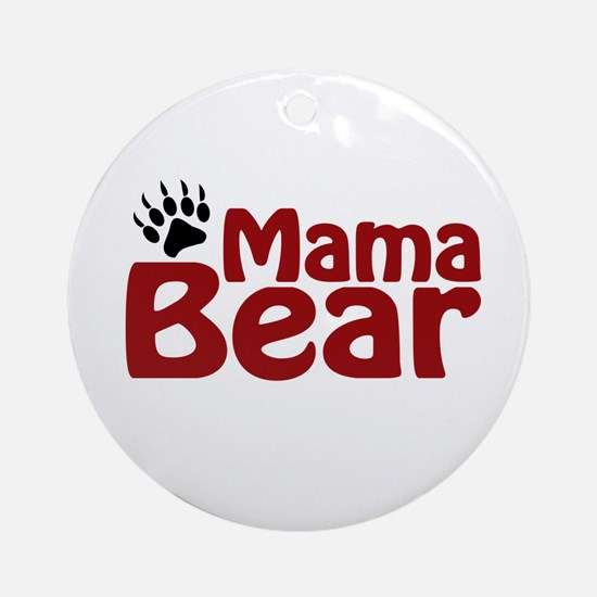 Mama Bear Claw Ornament (Round)