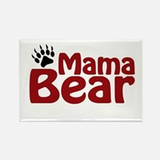 Mama Bear Claw Rectangle Magnet