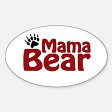Mama Bear Claw Oval Decal