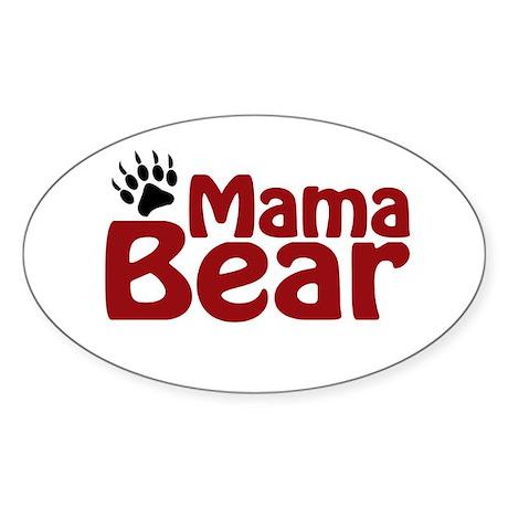 Mama Bear Claw Oval Sticker
