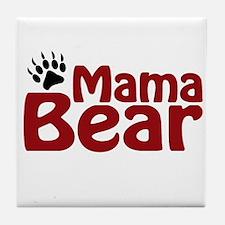 Mama Bear Claw Tile Coaster