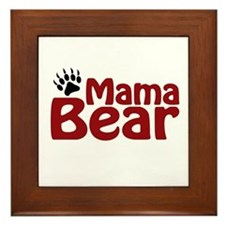 Mama Bear Claw Framed Tile