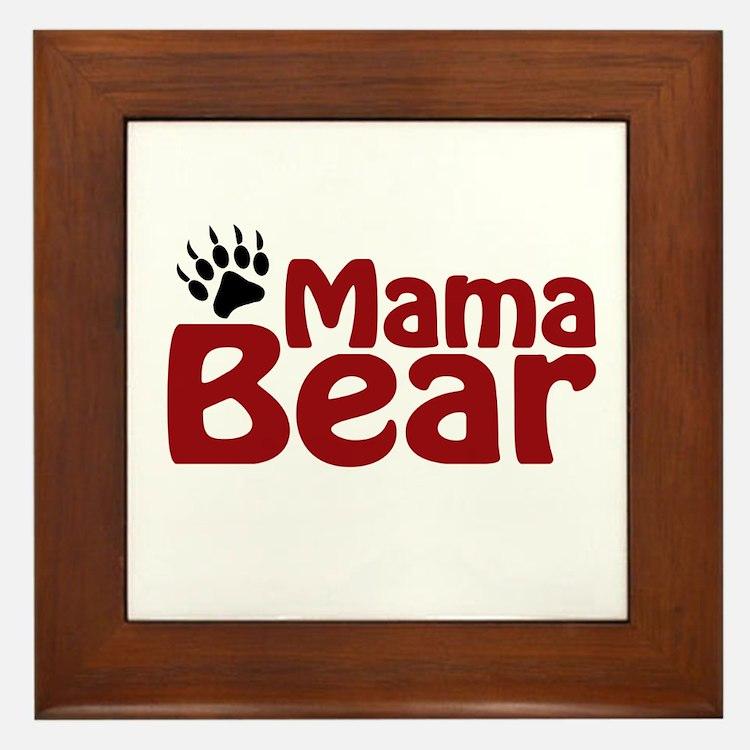 Mama Bear Claw Framed Tile