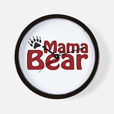 Mama Bear Claw Wall Clock