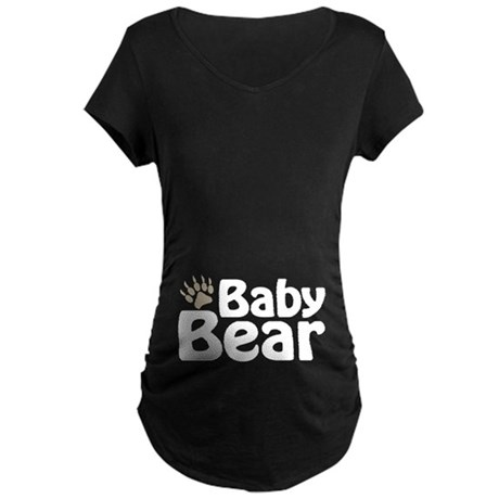 Baby Bear Claw Maternity Dark T-Shirt
