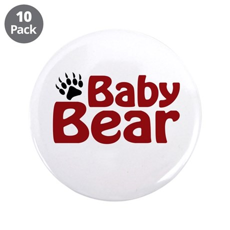 "Baby Bear Claw 3.5"" Button (10 pack)"
