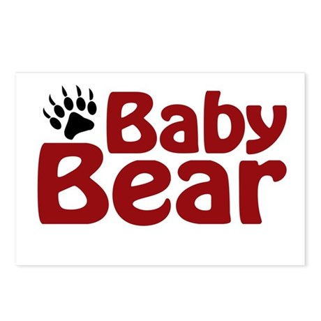 Baby Bear Claw Postcards (Package of 8)