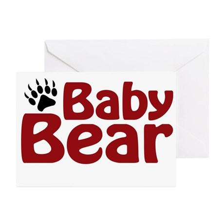 Baby Bear Claw Greeting Cards (Pk of 20)