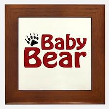 Baby Bear Claw Framed Tile
