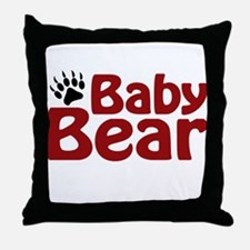 Baby Bear Claw Throw Pillow