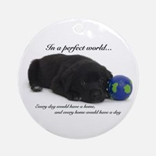 Perfect World (Lab) Ornament (Round)