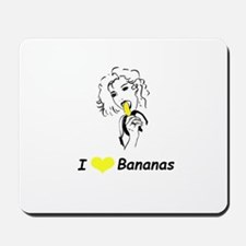 """I Love Bananas"" Mousepad"