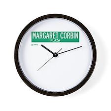 Margaret Corbin Plaza in NY Wall Clock