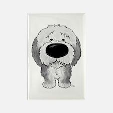 Big Nose Sheepdog Rectangle Magnet (10 pack)