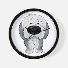 Big Nose Sheepdog Wall Clock