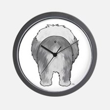 Big Butt Sheepdog Wall Clock