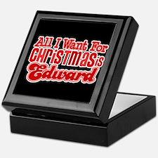 Edward Christmas Keepsake Box