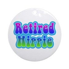 Retired Hippie Ornament (Round)
