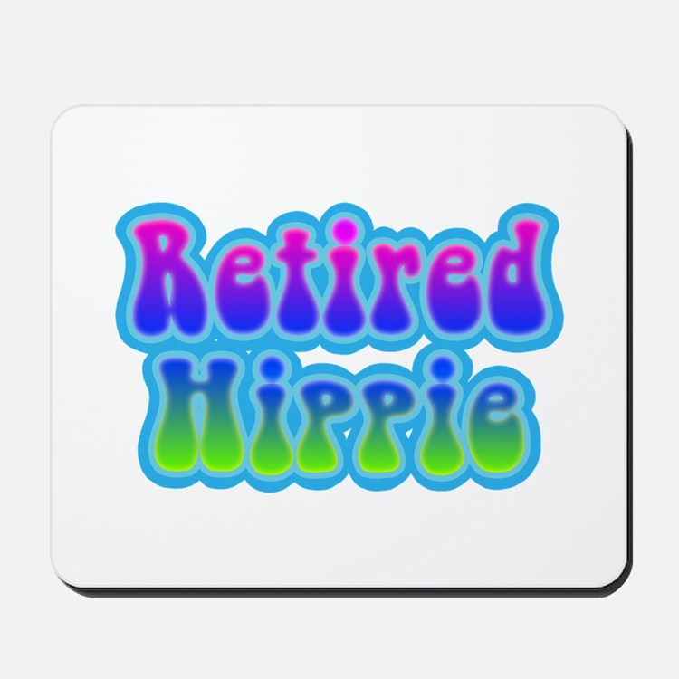 Retired Hippie Mousepad