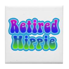 Retired Hippie Tile Coaster