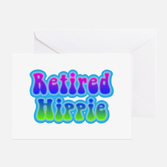 Retired Hippie Greeting Card