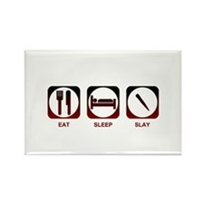 Eat Sleep Slay Rectangle Magnet