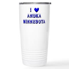 I Love Anoka Winter Stainless Steel Travel Mug