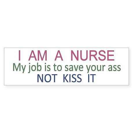 Nurse Ass Bumper Sticker