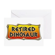 Retired Dinosaur Greeting Card