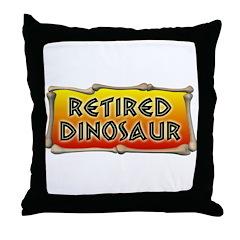 Retired Dinosaur Throw Pillow