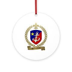 BOUDREAU Family Crest Ornament (Round)