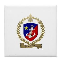 BOUDREAU Family Crest Tile Coaster
