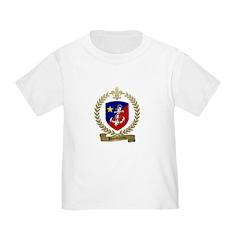 BOUDREAU Family Crest Toddler T-Shirt