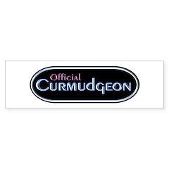 Official Curmudgeon Bumper Bumper Sticker
