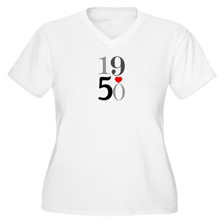 1950 Women's Plus Size V-Neck T-Shirt