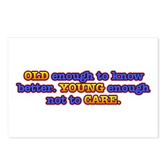 Old Enough, Young Enough Postcards (Package of 8)