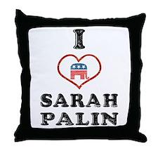 I Love Sarah Palin Throw Pillow