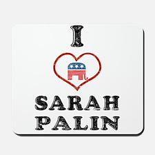 I Love Sarah Palin Mousepad