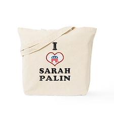I Love Sarah Palin Tote Bag