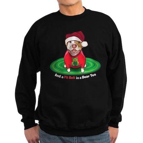 And a Pit Bull in a Bear Tee Sweatshirt (dark)